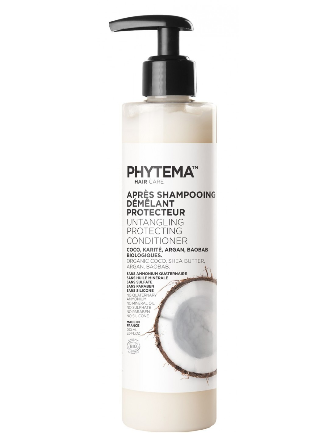 apr s shampooing naturel et bio phytema haircare format 250 ml. Black Bedroom Furniture Sets. Home Design Ideas