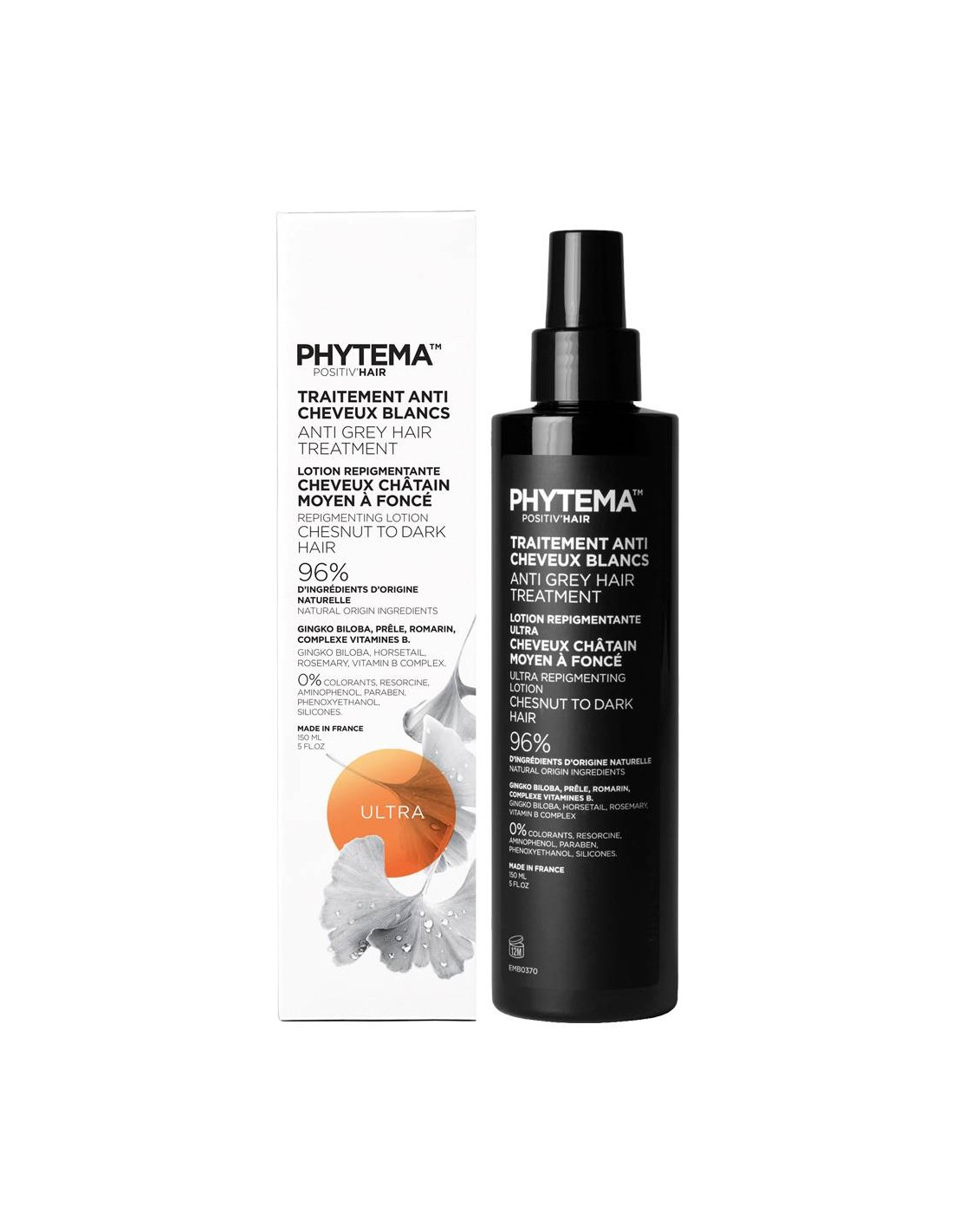 Anti grey hair treatment, Positiv'hair Ultra lotion